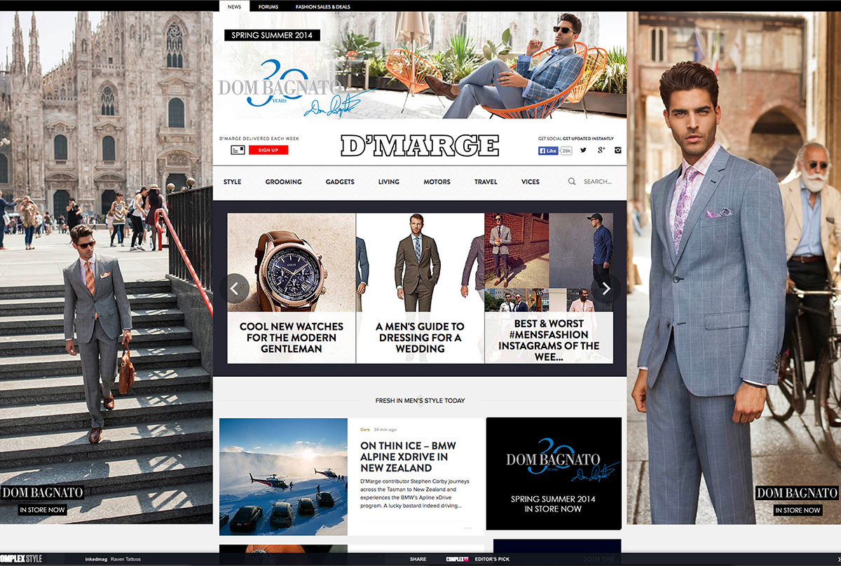 Dom Bagnato SS 14/15 Online Advertising