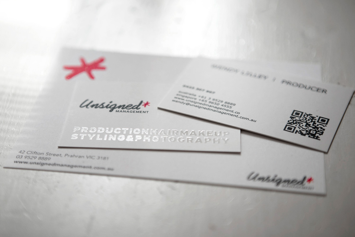 Unsigned Management - Business Cards / Stationary