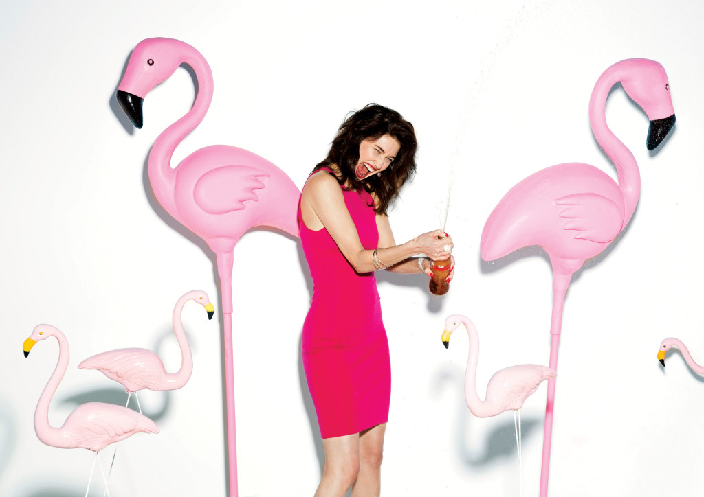 Pink Flamingo props sourced by stylist